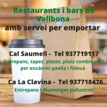 Restaurants i bars de Vallbona